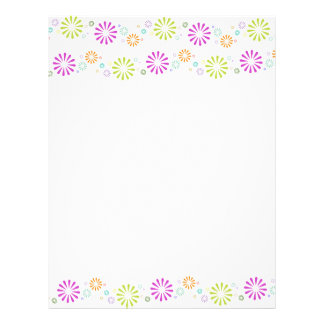 Springy Colorbursts Stationary Letterhead