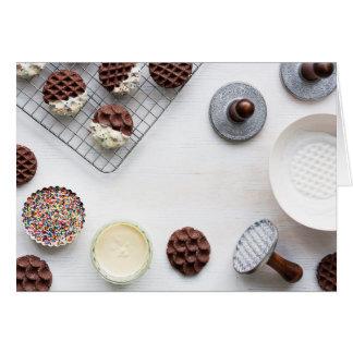 Sprinkle chocolate cookies blank notecard