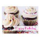 Sprinkle Cupcakes Happy Birthday Postcard