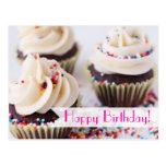 Sprinkle Cupcakes Happy Birthday Postcard