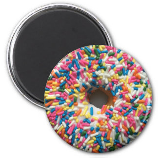 Sprinkle Donut round magnet