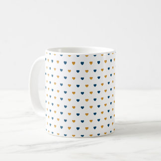 Sprinkle Hearts (Navy/Gold) Coffee Mug