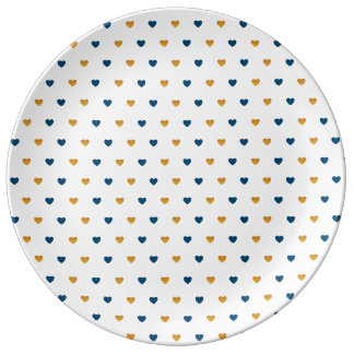 Sprinkle Hearts (Navy/Gold) Plate
