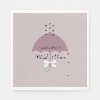 Sprinkle Love Mauve And White Shower Party Napkins