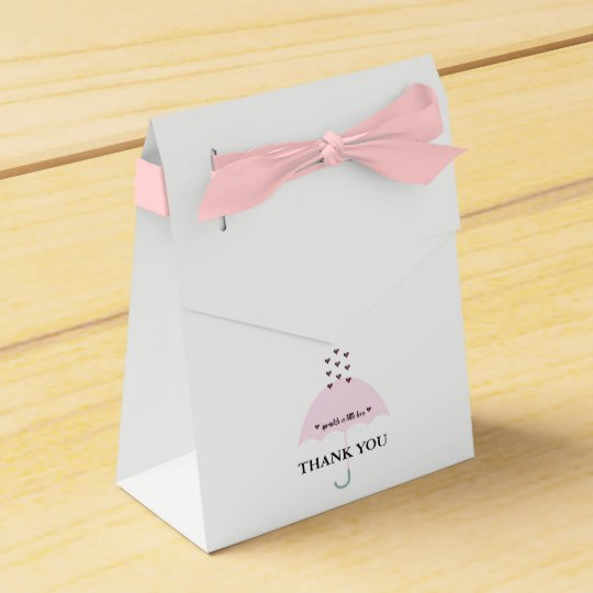 Sprinkle Love Pink Girl Shower Favour Boxes Favor Box