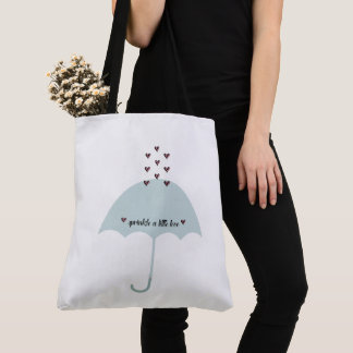 Sprinkle Love Pink & Teal Blue Shower Tote Bag