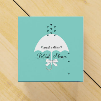 Sprinkle Love Teal Blue Party Favor Boxes