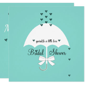 Sprinkle Love Tiffany Teal Blue Party Invitation