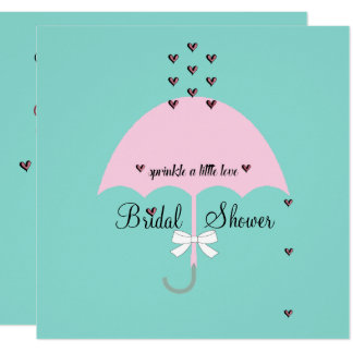Sprinkle Love Tiffany Teal Blue & Pink Party Card
