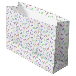 Sprinkle pattern large gift bag