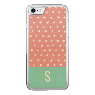Sprinkle Stars Monogram iPhone Case