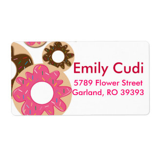 Sprinkled Donuts Shipping Label
