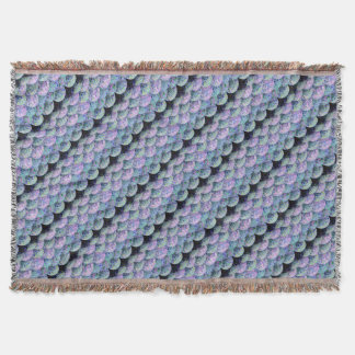 Sprinkled Paper Mermaid Scales Throw Blanket