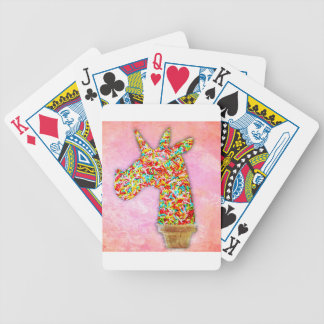 Sprinkled Unicorn Ice Cream Bicycle Playing Cards