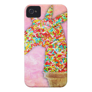 Sprinkled Unicorn Ice Cream iPhone 4 Case-Mate Cases