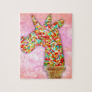 Sprinkled Unicorn Ice Cream Jigsaw Puzzle
