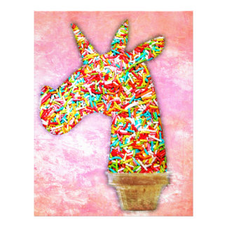 Sprinkled Unicorn Ice Cream Letterhead