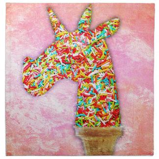 Sprinkled Unicorn Ice Cream Napkin