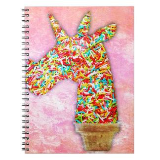Sprinkled Unicorn Ice Cream Notebook