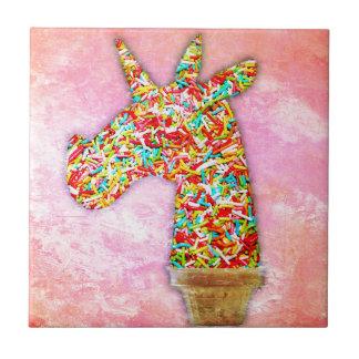 Sprinkled Unicorn Ice Cream Tile
