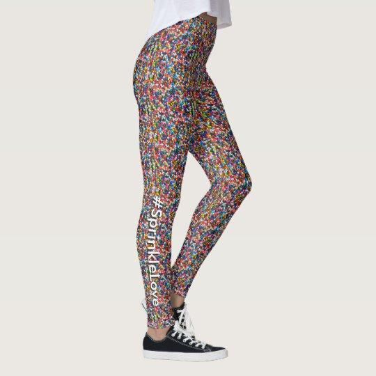 #SprinkleLove Multi-Coloured Fun Sprinkles Pattern Leggings