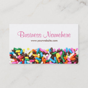 Food business cards profile cards zazzle ca sprinkles business cards reheart Images