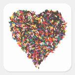 Sprinkles Heart Stickers