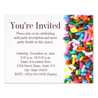 Sprinkles Invitation