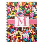 Sprinkles Monogrammed Notebook