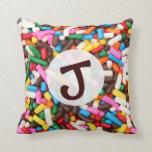 Sprinkles Monogrammed Pillow