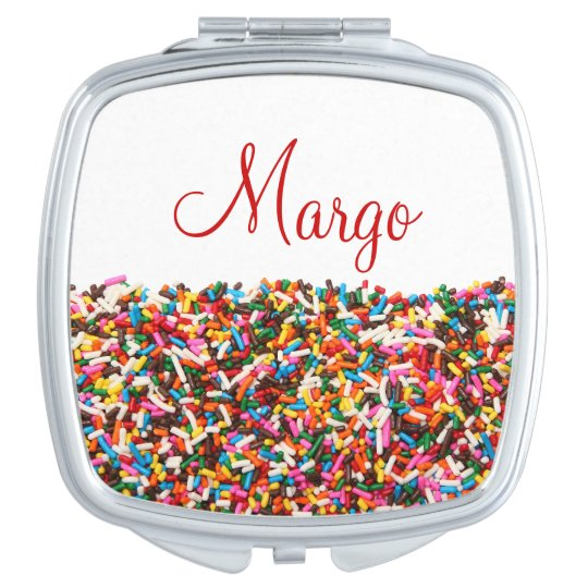 Sprinkles Personalized Compact Mirror