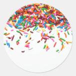 Sprinkles Round Sticker