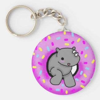 Sprinkles the Rhino Keychain