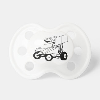 Sprint Car Outline Pacifier
