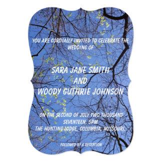 Sprint Trees Wedding Card