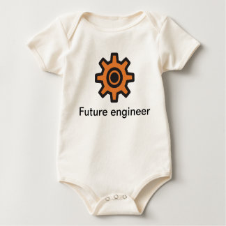 Sprocket - future engineer inside baby bodysuit