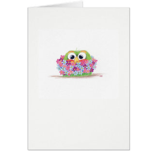 Sprout Bouquet blank card