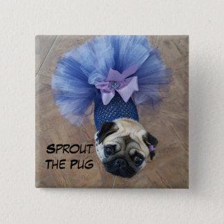 Sprout in a Tutu 2 Inch Square Button