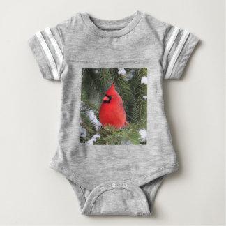 Spruce cardinal baby bodysuit
