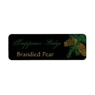 Spruce Pine Cone Candle Label Return Address Label