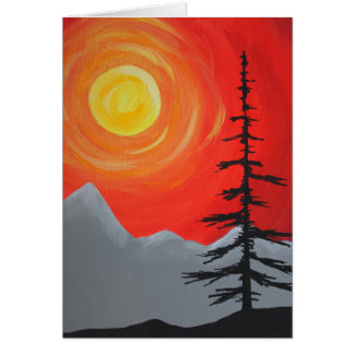 Spruce Sunset Card