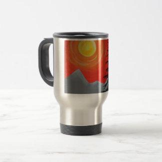 Spruce Sunset Travel Mug
