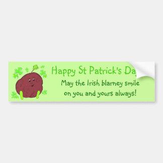 Spudman Paddy St Patrick's Day bumper sticker