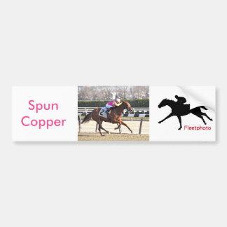 Spun Copper Bumper Sticker