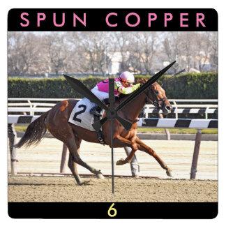 Spun Copper Square Wall Clock