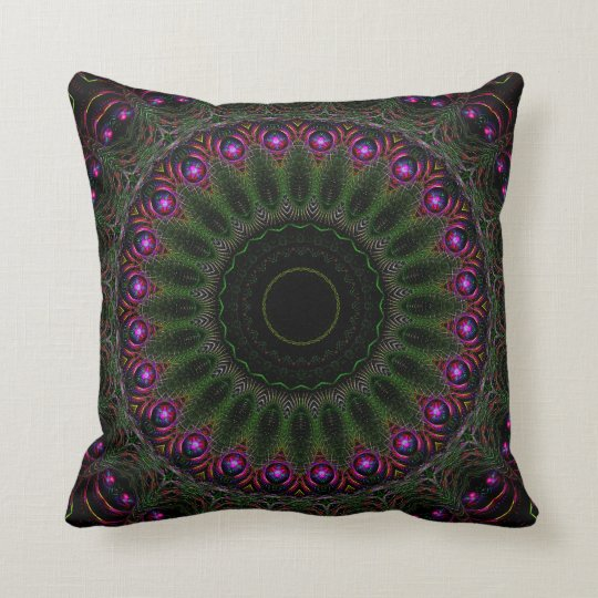Spun Mandala Throw Pillow