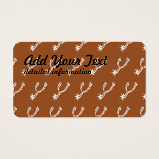 Spurs White Brown Business Card