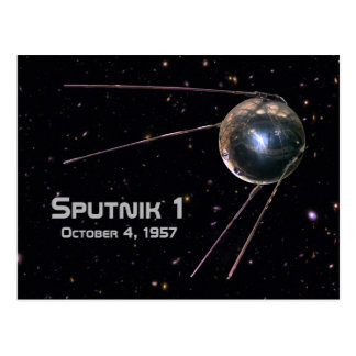 Sputnik 1 Earth Satellite Postcard