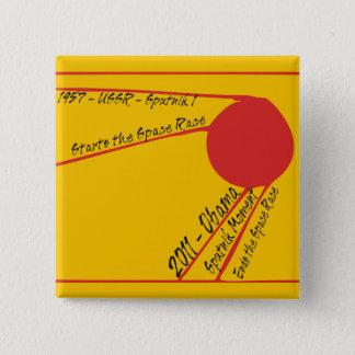 Sputnik Moment 2 Inch Square Button