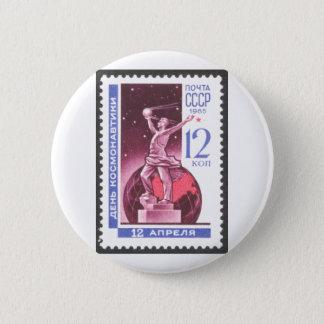 Sputnik Space Exploration Monument 1965 2 Inch Round Button